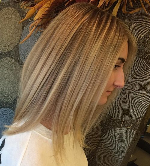 medium brown blonde hairstyle for straight hair