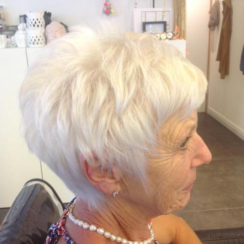 Short Gray Hair With Purple Highlights