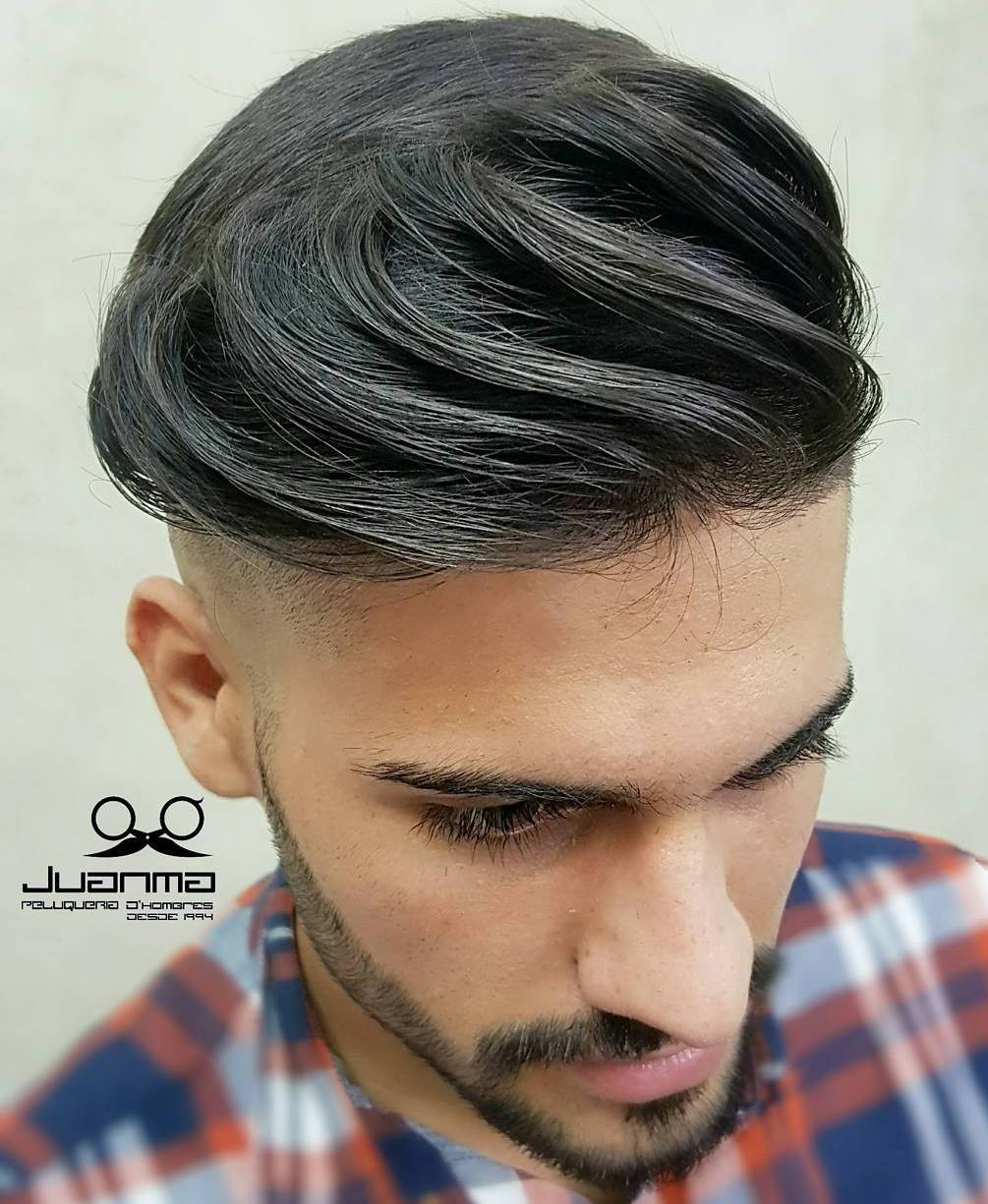 Long Top Shaved Sides Haircut For Men
