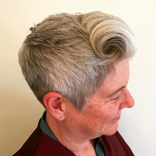 Short Hairstyle With Bangs For Seniors