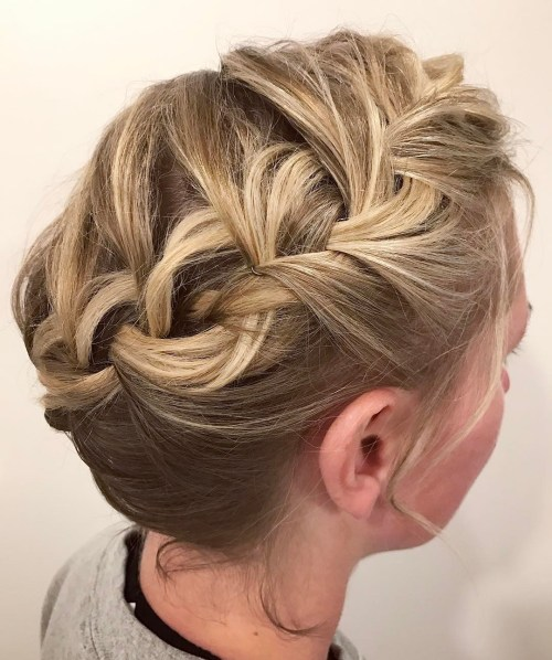 Messy Braided Updo For Girls