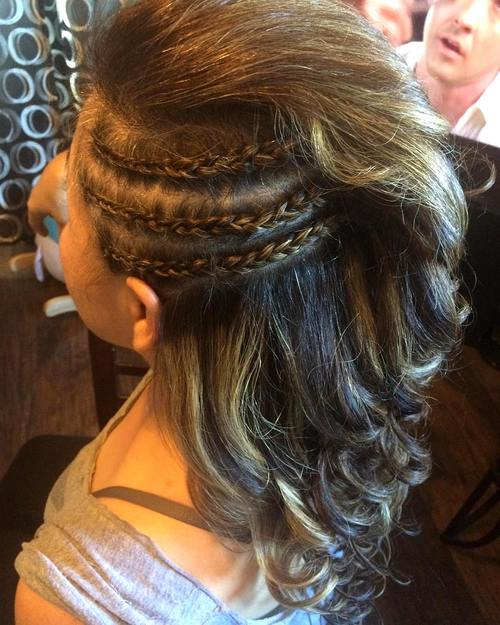 triple braid hairstyle for teen girls