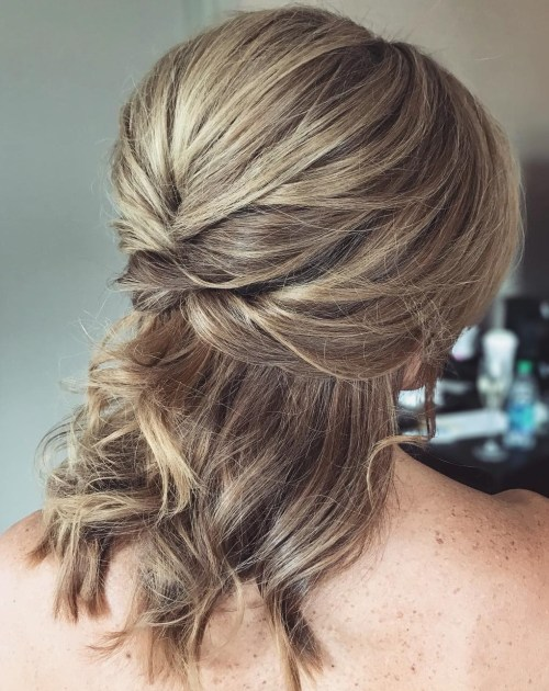Fancy Wedding Half Updo