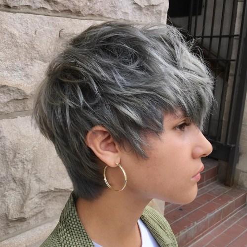 Gray Shaggy Pixie
