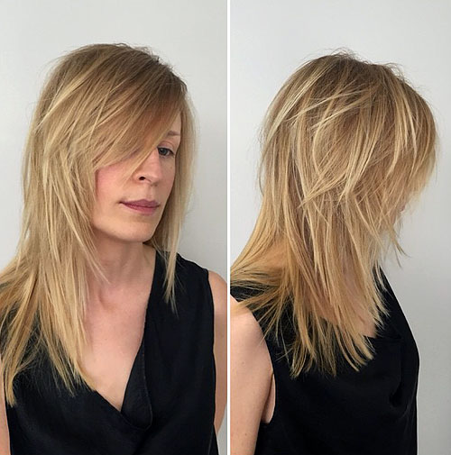 Charming Medium Layered Haircut For Fine Hair. Long ...
