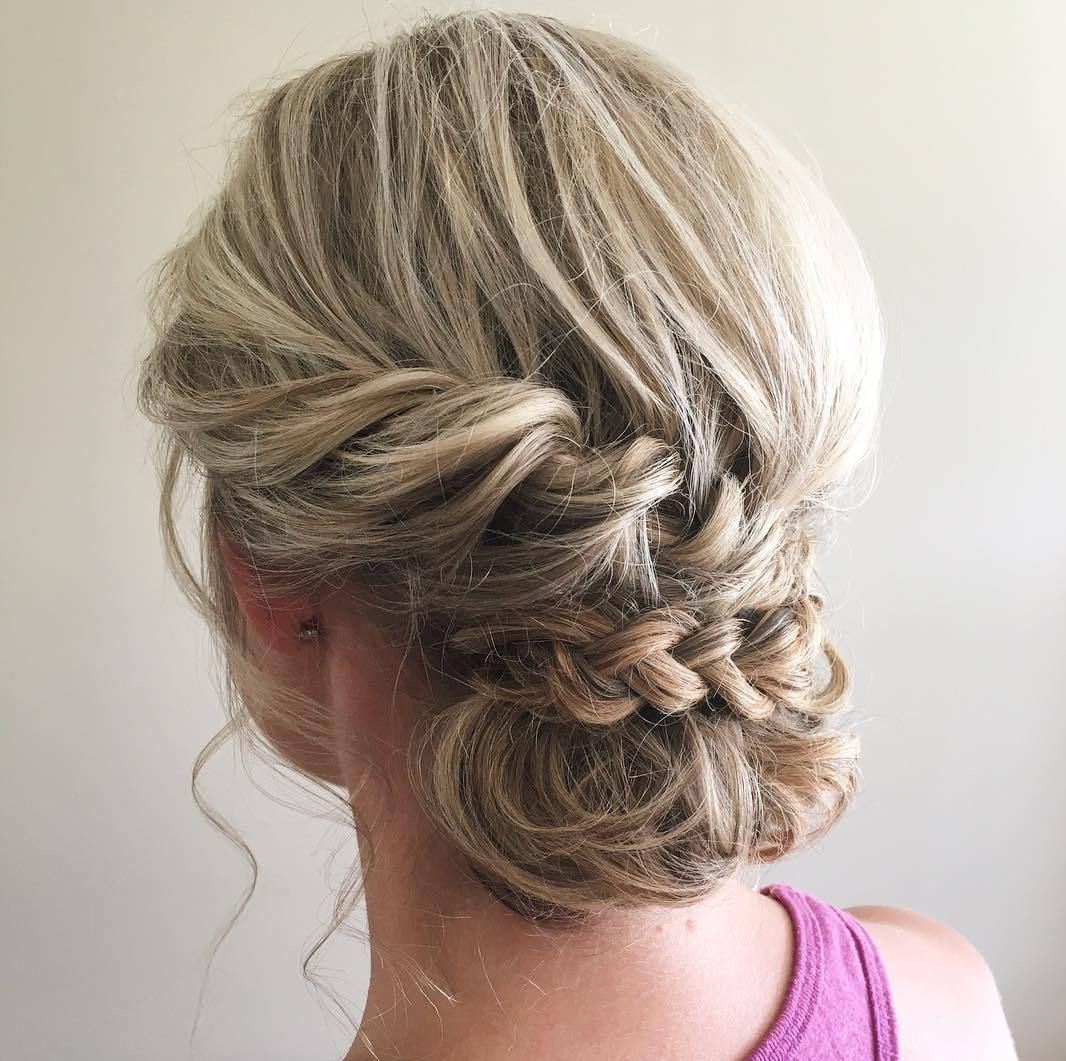 Chignon Updo For Medium Hair