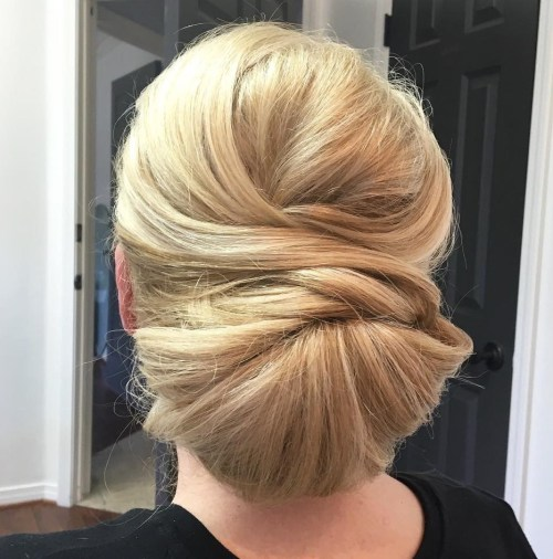 Polished Chignon For Long Hair