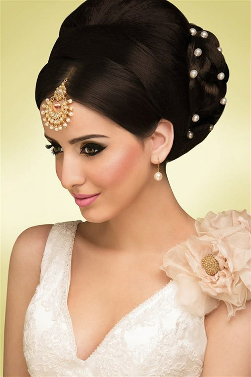 Indian bridal updo