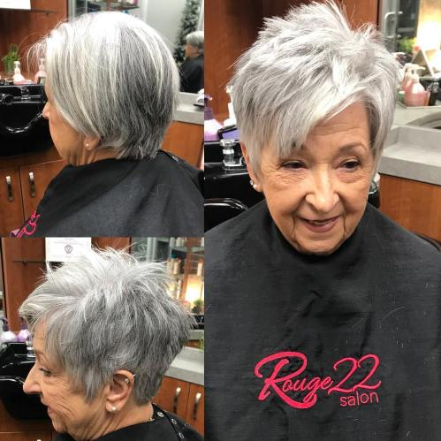 Chopped Gray Pixie