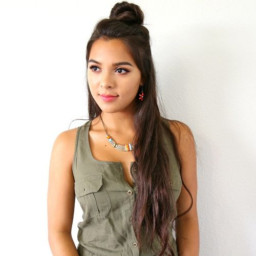 half knot updo for long hair