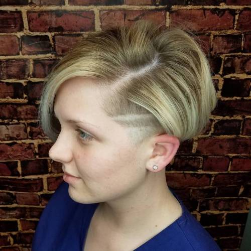 Teenage Bob With Temple Undercut