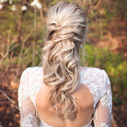 Half Up Half Down Wedding Hairstyles – 50 Stylish Ideas for Brides