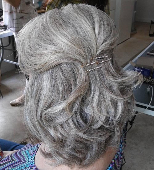 Simple Half Updo For Mother Of The Bride
