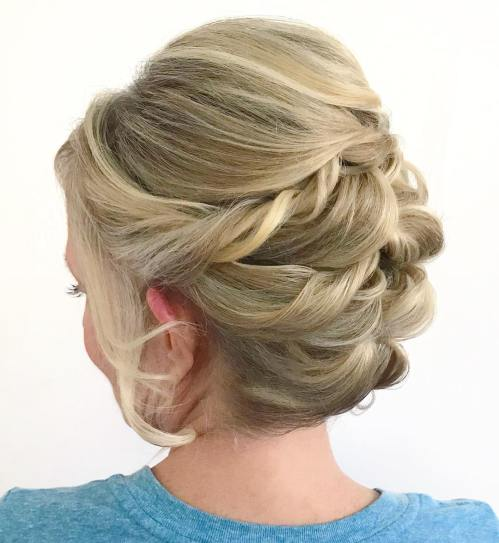 Mother Of The Bride Hair Updo For Shorter Hair