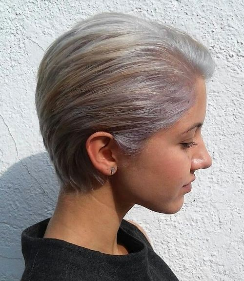 short silver blonde hairstyle for girls