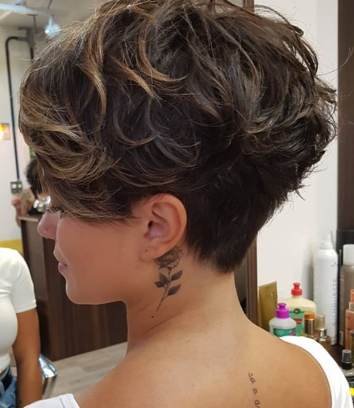 Undercut Pixie Cut For Thick Curly Hair