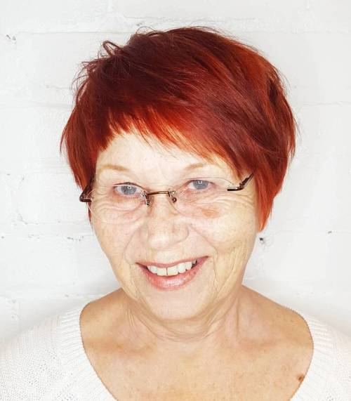 Auburn Pixie for Women over 70