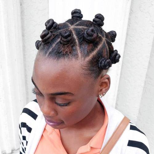 African American Natural Hairstyles 15 hot natural hairstyle tutorials for summer Bantu Knots Updo