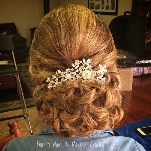 40 ravishing mother of the bride hairstyles curly chignon mother of the bride updo pmusecretfo Images
