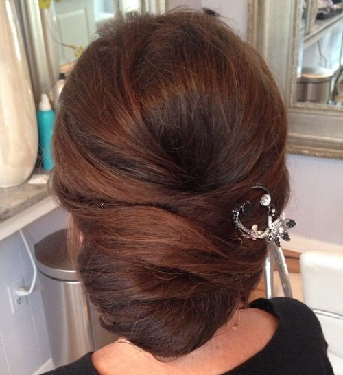 Chignon Updo For Long Hair