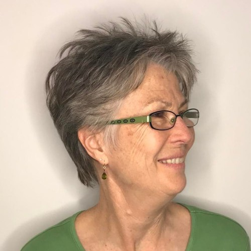 Choppy Pixie for Women over 70