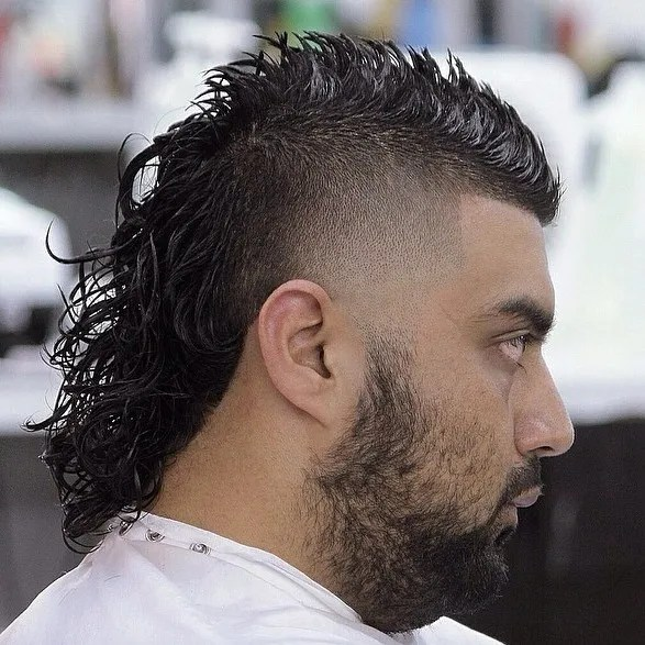 Men's Mohawk With Long Back