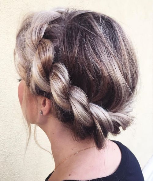 twisted crown updo for teenage girls