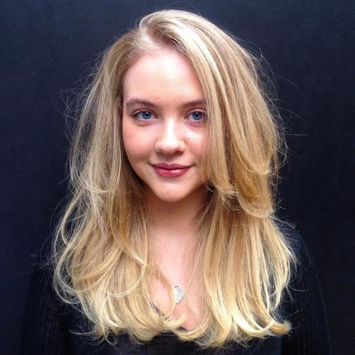 Two-Layer Long Blonde Cut