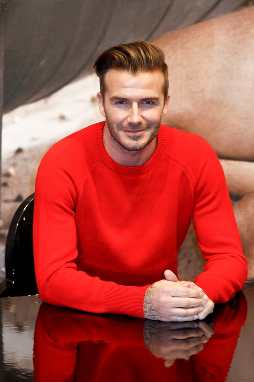 David Beckham short haircut