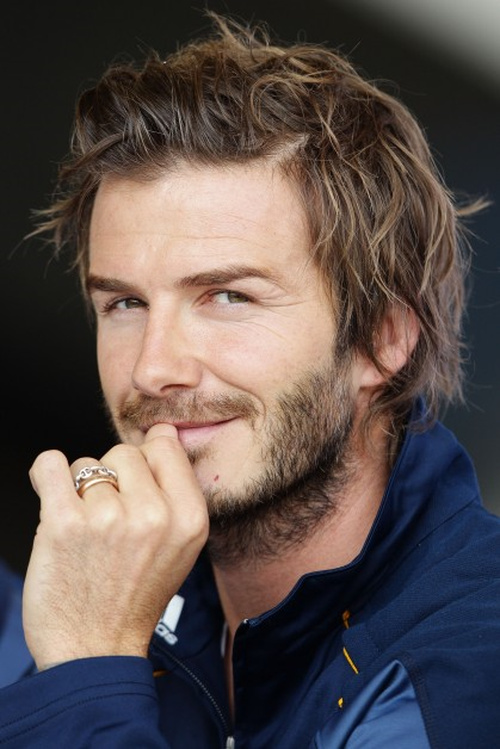 David Beckham short to medium haircut