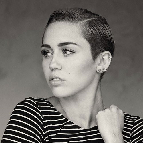 cyrus hair Miley short
