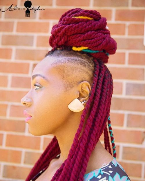 Funky Magenta Twists With Undershaves