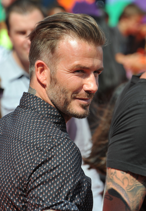 David Beckham tapered haircut