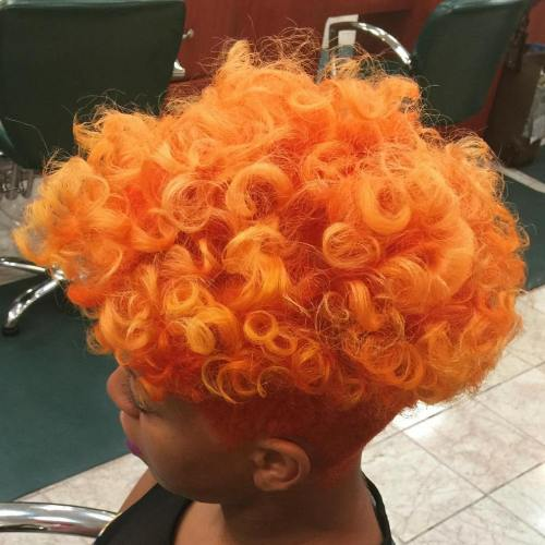 Short Natural Orange Hairstyle