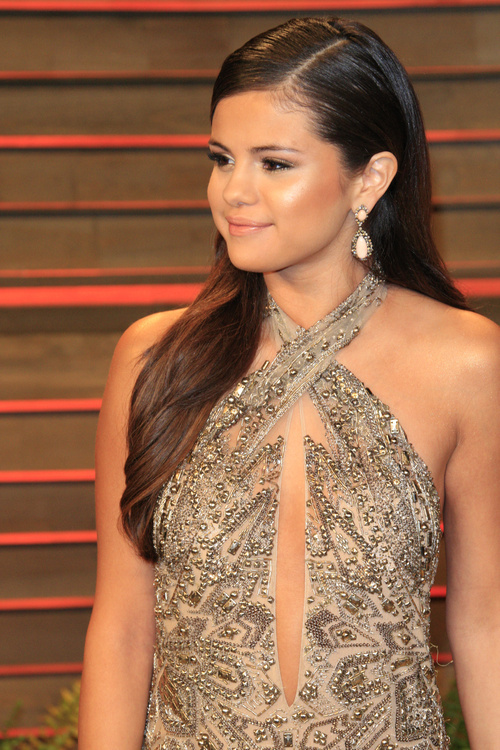 Selena Gomez long straight hairstyle