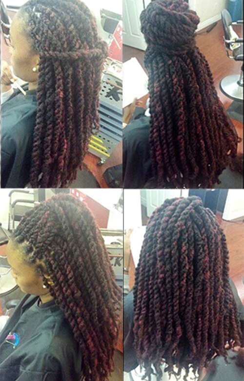 hairstyles for thick kinky twists