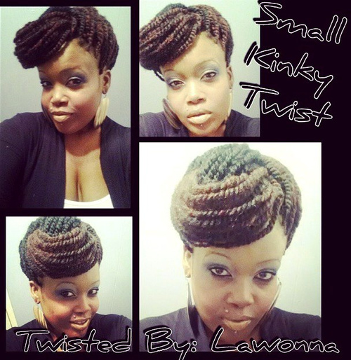 elegant twists updo hairstyle