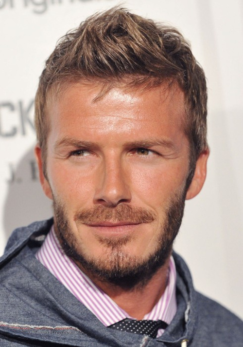 David Beckham cool short haircut