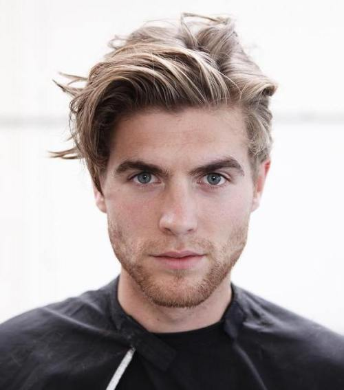 Mens Medium Blonde Hairstyle