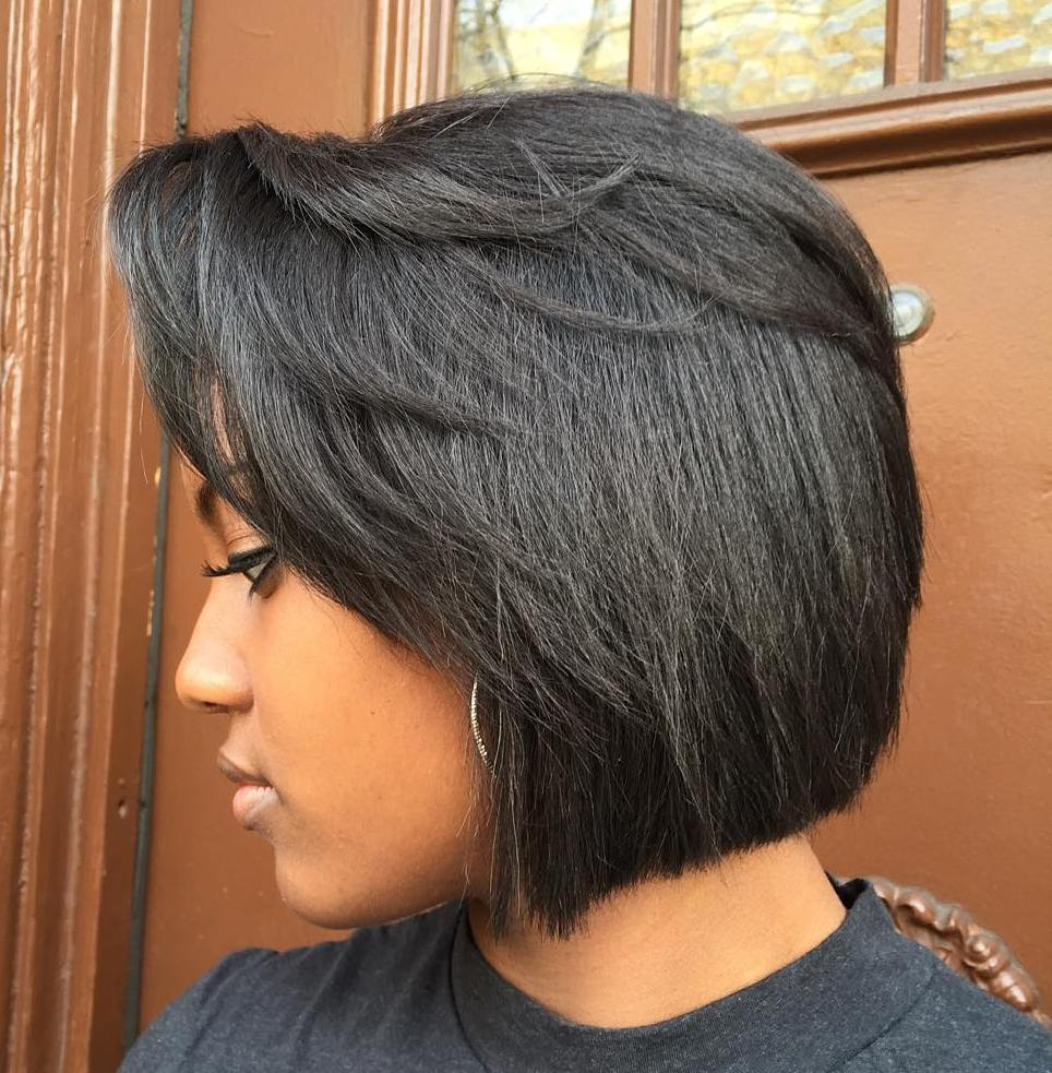 Black Bob With Side Bangs