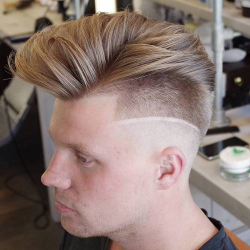 Long Top Short Sides With Line Up