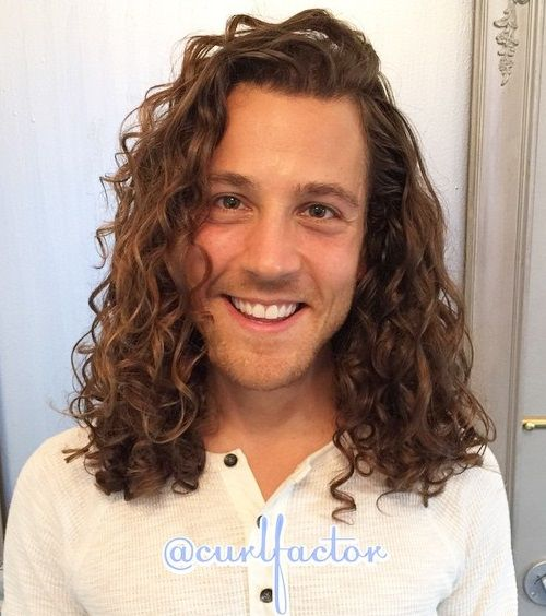 long curly men's hairstyle