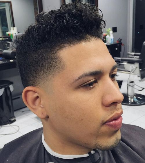 types of short haircuts for guys 45 best curly hairstyles and haircuts for 2019 4198 | 18 curly top fade haircut