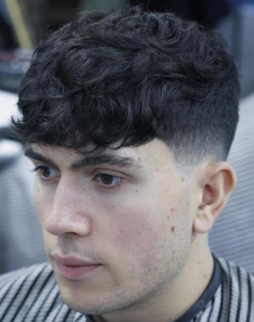 Short Men's Haircut For Curly Hair