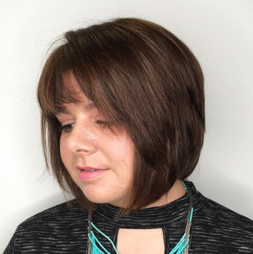 Two-Tiered Bob With Bangs