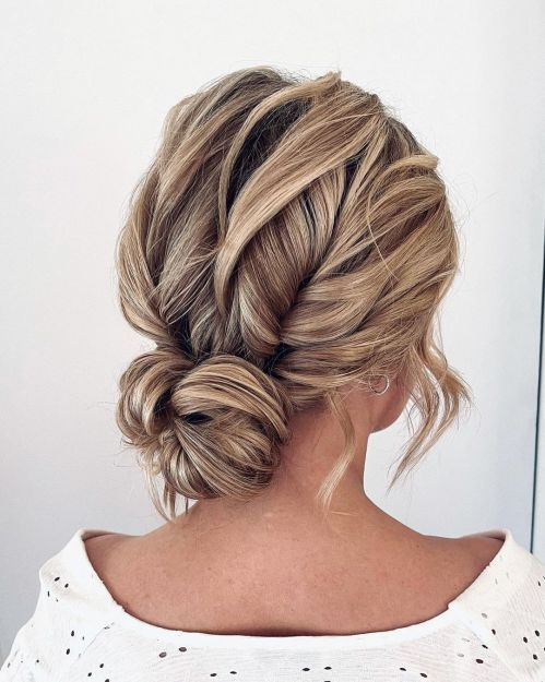 Bridal Boho Chic Bun Hairstyle