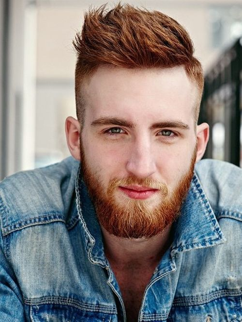 Awesome Shaved Sides Hairstyle And A Beard