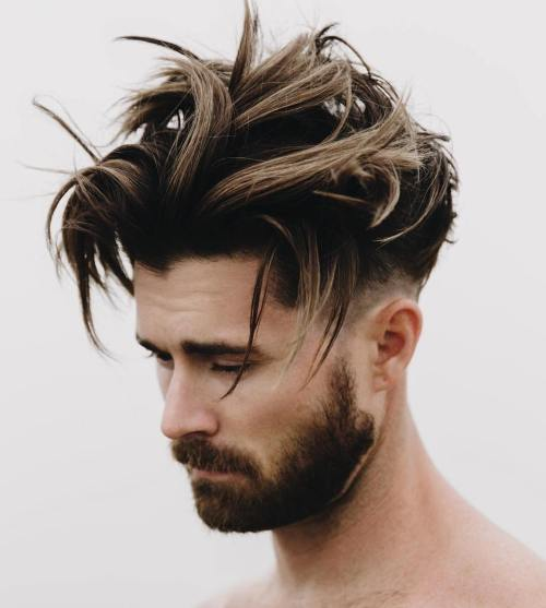 50 must have medium hairstyles for men long top taper fade hairstyle urmus