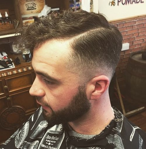 Tapered haircut for curly hair