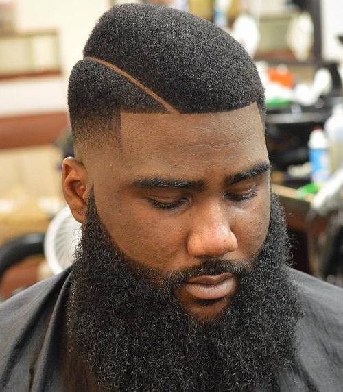Design shaved in beard